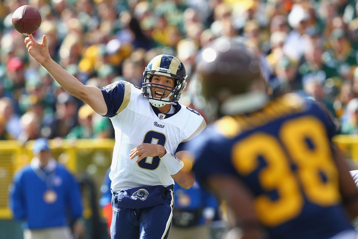 Sam threw for 321 yards in a solid effort that left Rams fans wanting in yet another loss as St. Louis fell to the Green Bay Packers 24-3.