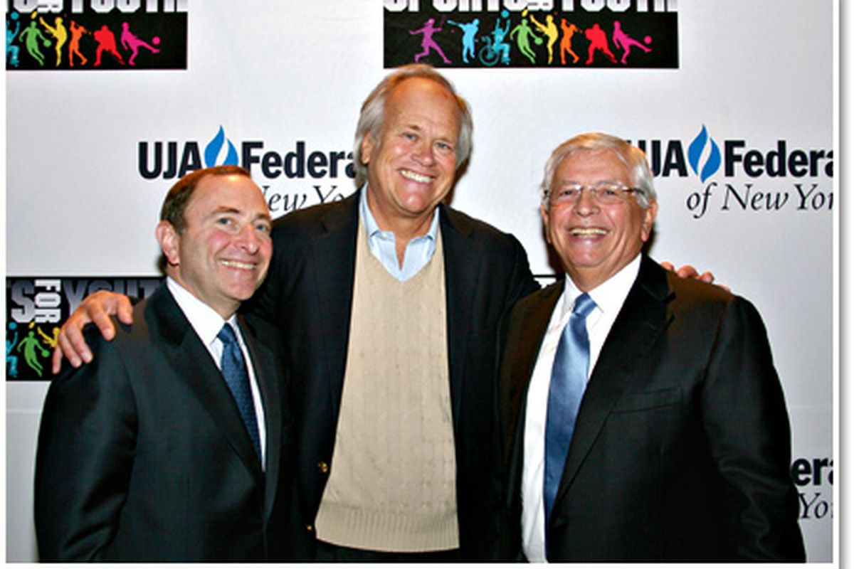 NHL Commissioner Gary Bettman, former head of NBC Sports Dick Ebersol, and NBA Commissioner David Stern had a lot of good times. What common ground will Bettman and Stern have in the future?