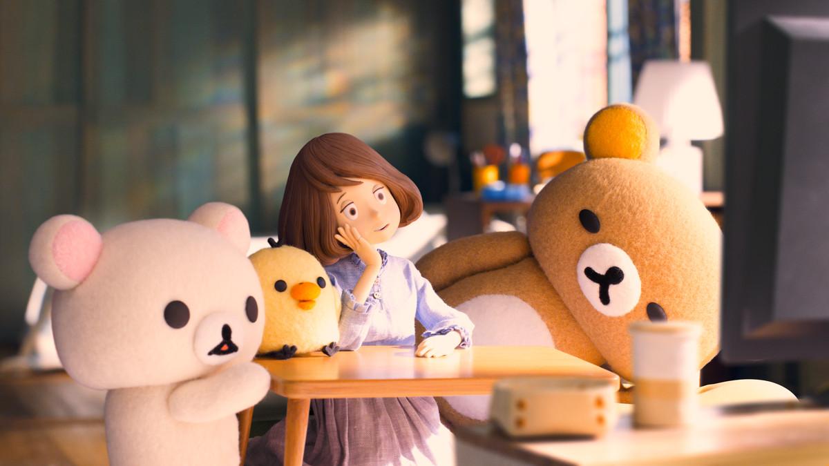 Kaoru and her fuzzy friends in Rilakkuma and Kaoru.