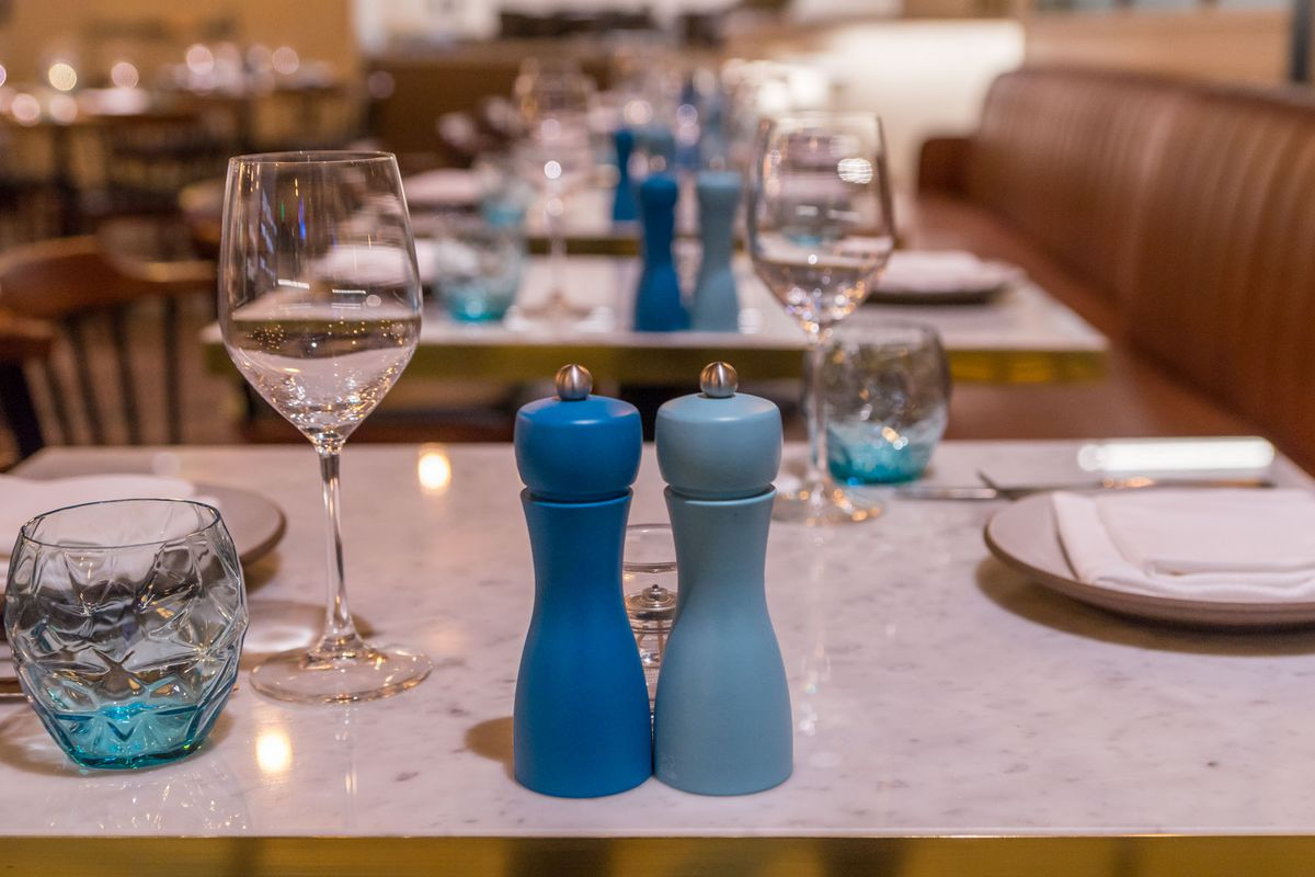The table setting at Osteria Costa