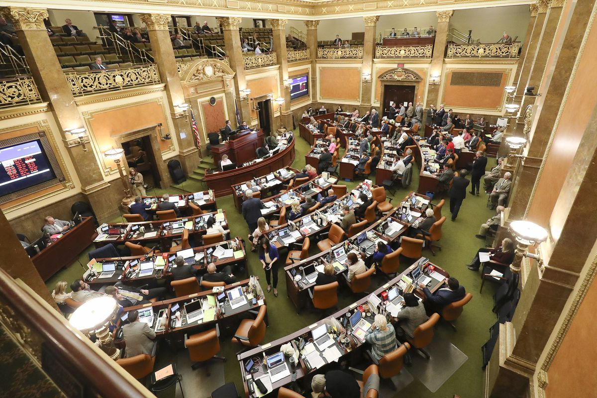 The House meets at the Capitol in Salt Lake City during the last night of the 2020 legislative session on Thursday, March 12, 2020.