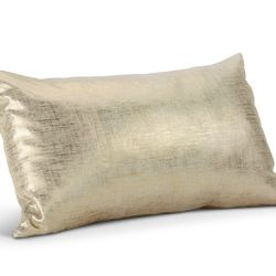 """<b>The Steal:</b> Room & Board's shiny <a href=""""http://www.roomandboard.com/catalog/accessories/pillows/shimmer-pillows"""">Shimmer Pillow</a> ($69) has a hint of metallic, and goes with absolutely everything. Find it in colors like citron, silver, blush, go"""