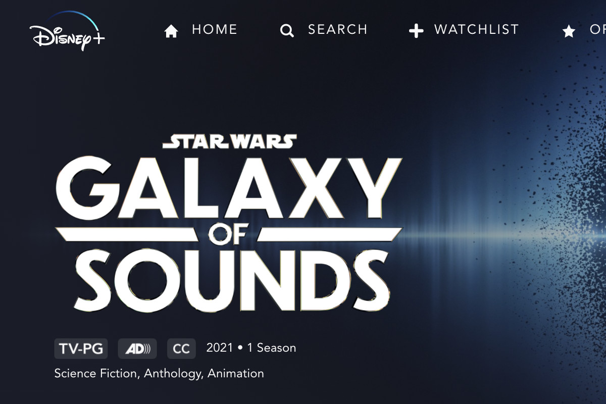 """Photo shows """"Star Wars: Galaxy of Sounds"""" page on Disney+."""
