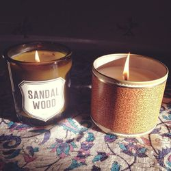 The office is closed because there's so much snow that New Yorkers don't know how to exist. I'm warm and cozy inside, with the help of these two delicious candles. One is sandalwood and the other is heirloom pumpkin—the combo of the scents is so heavenly,