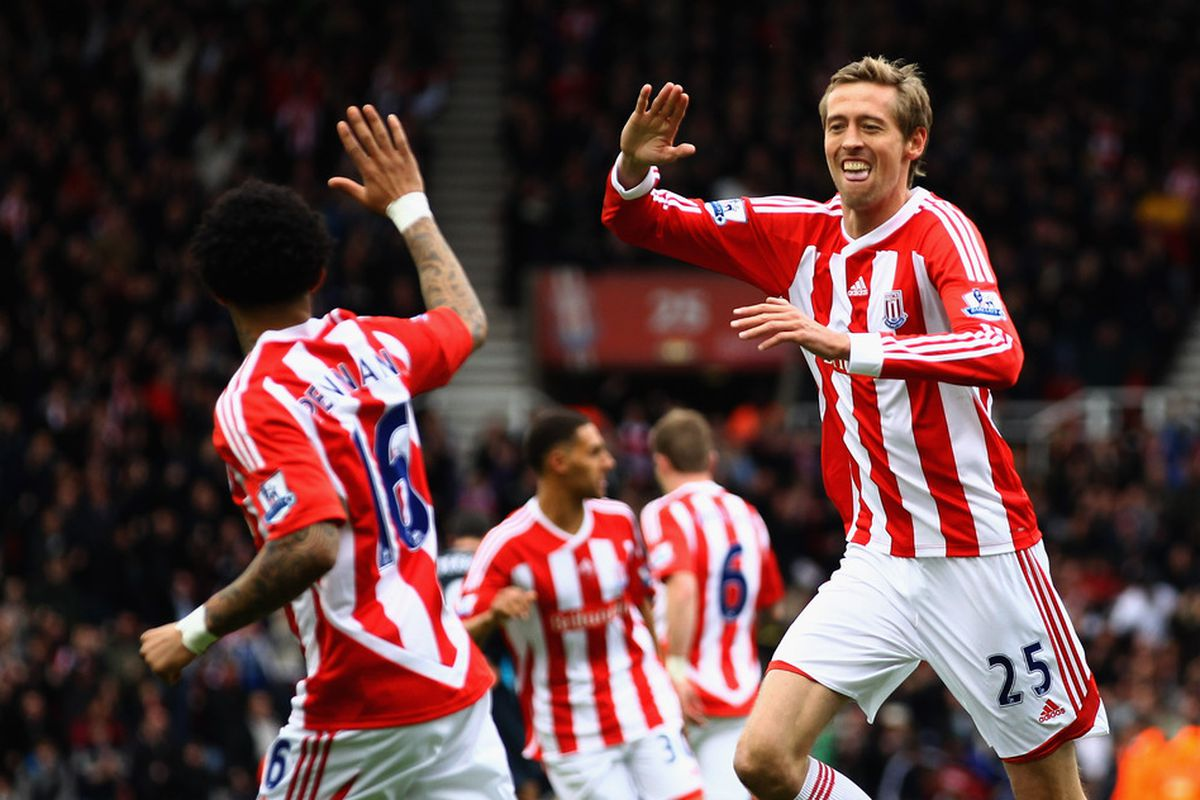 Peter Crouch and Jermaine Pennant are among the Stoke players touring America.
