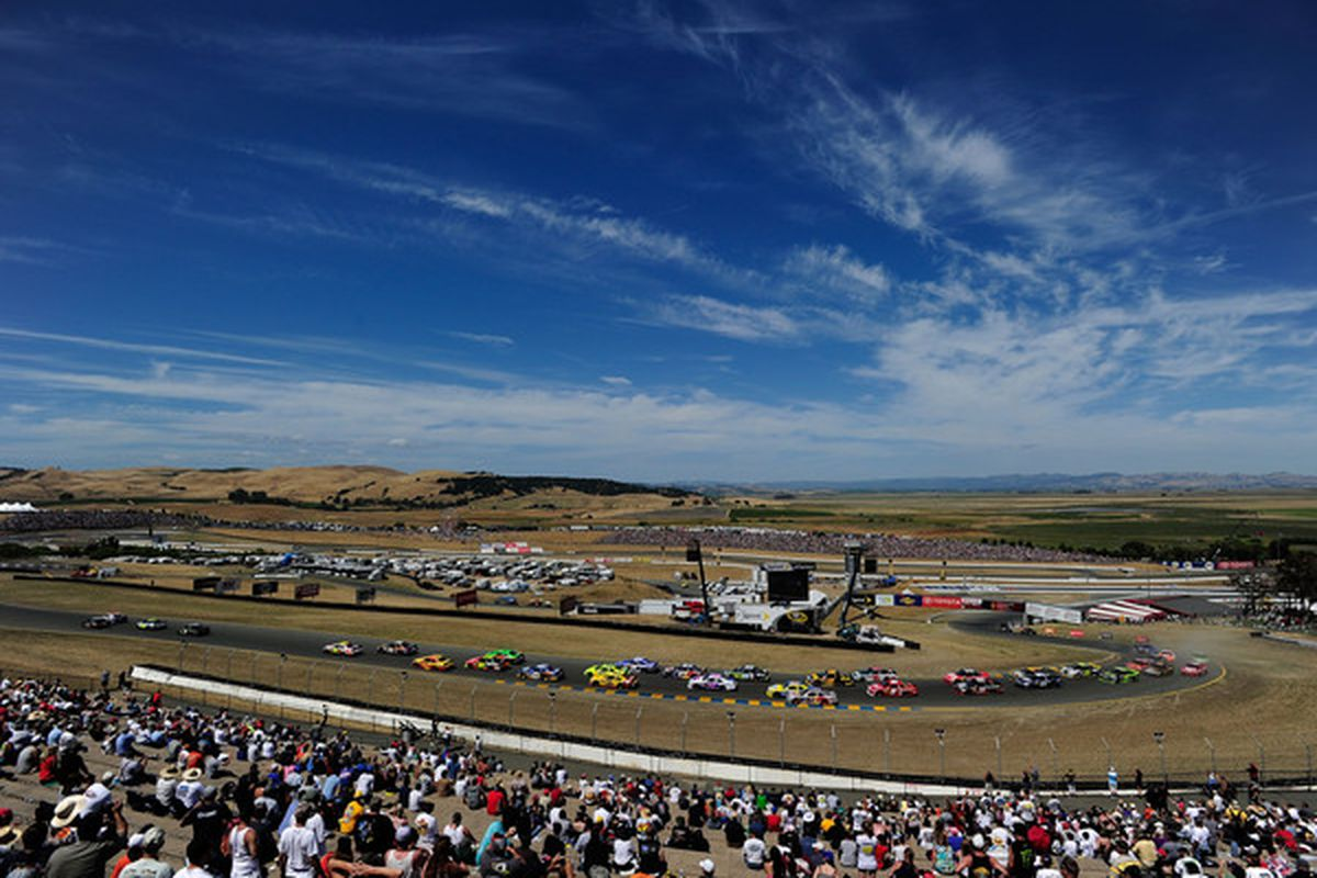 Infineon Raceway in Sonoma, California during the Save Mart 300 NASCAR race.  (Photo by Robert Laberge/Getty Images for NASCAR)