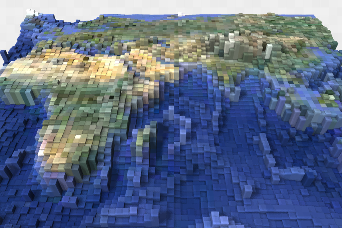Blocky earth turns google maps terrain into minecraft like blocks blocky earth gumiabroncs Choice Image