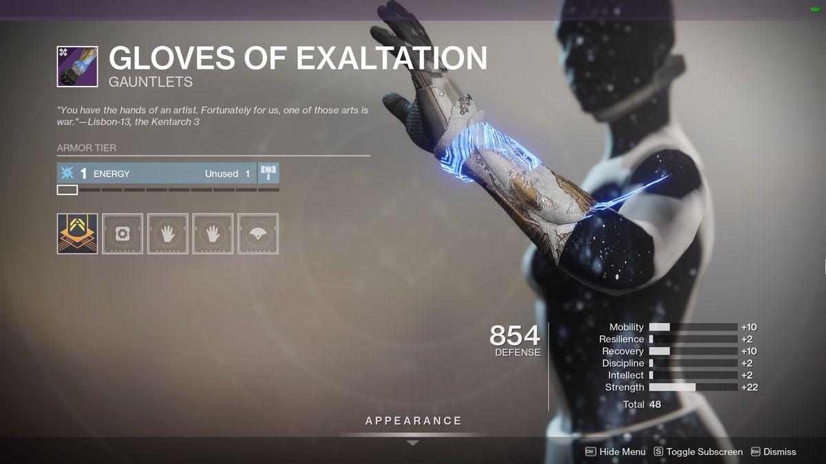 Destiny 2's Gloves of Exaltation