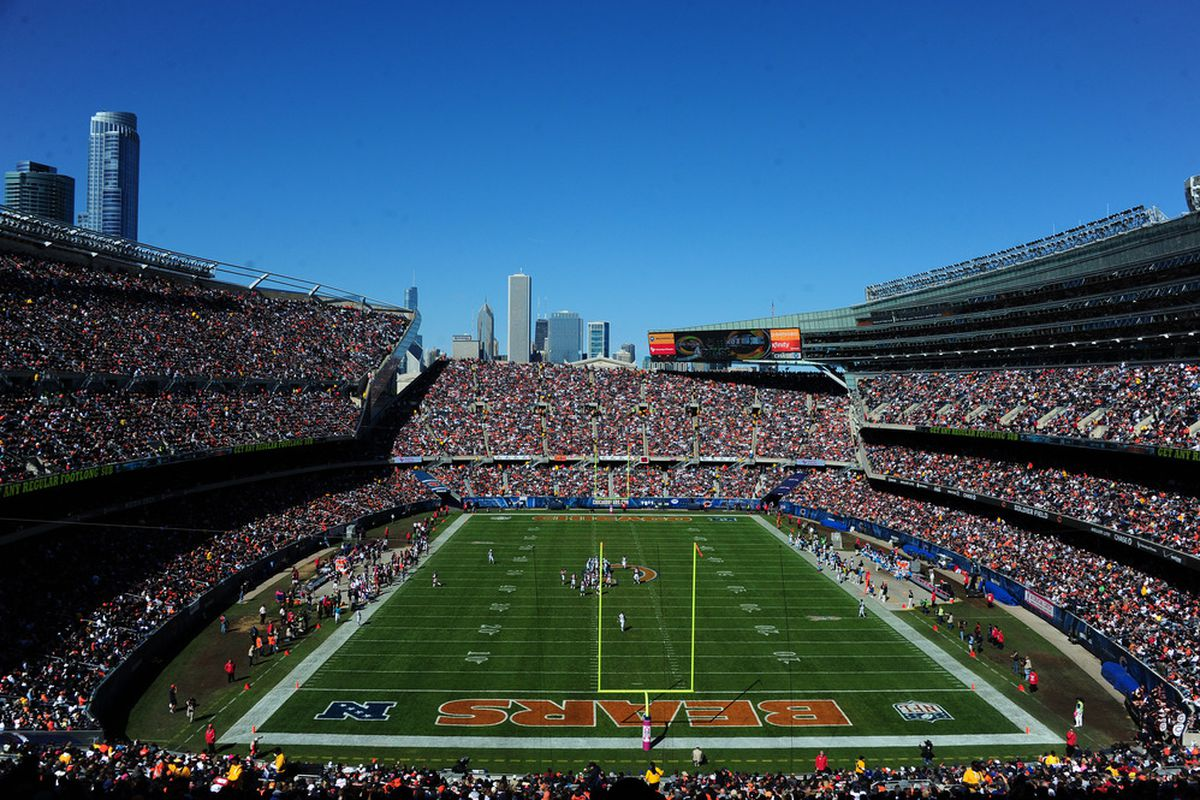 ATLANTA - OCTOBER 2: A general view of Soldier Field during the game between the Chicago Bears and the Carolina Panthers on October 2, 2011 in Chicago, Illinois. (Photo by Scott Cunningham/Getty Images)