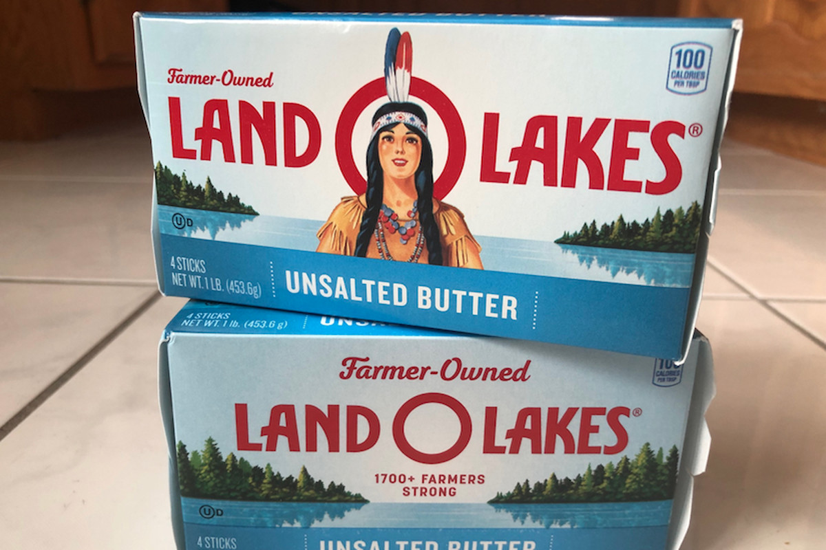 """Now you see her — now you don't: Land O'Lakes has """"quietly"""" removed the image of a Native American woman from its packaging as the brand prepares to celebrate its 100th anniversary next year."""