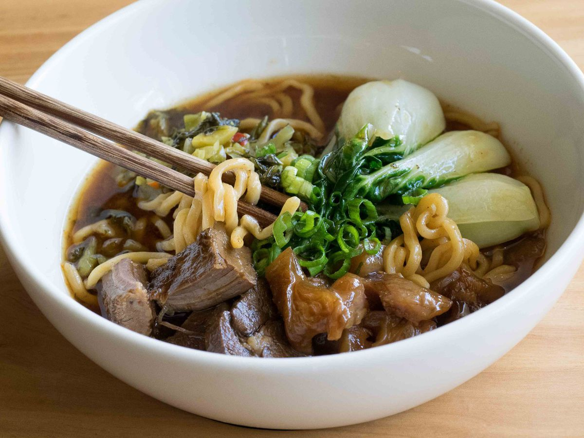 Beef noodle soup at China Live