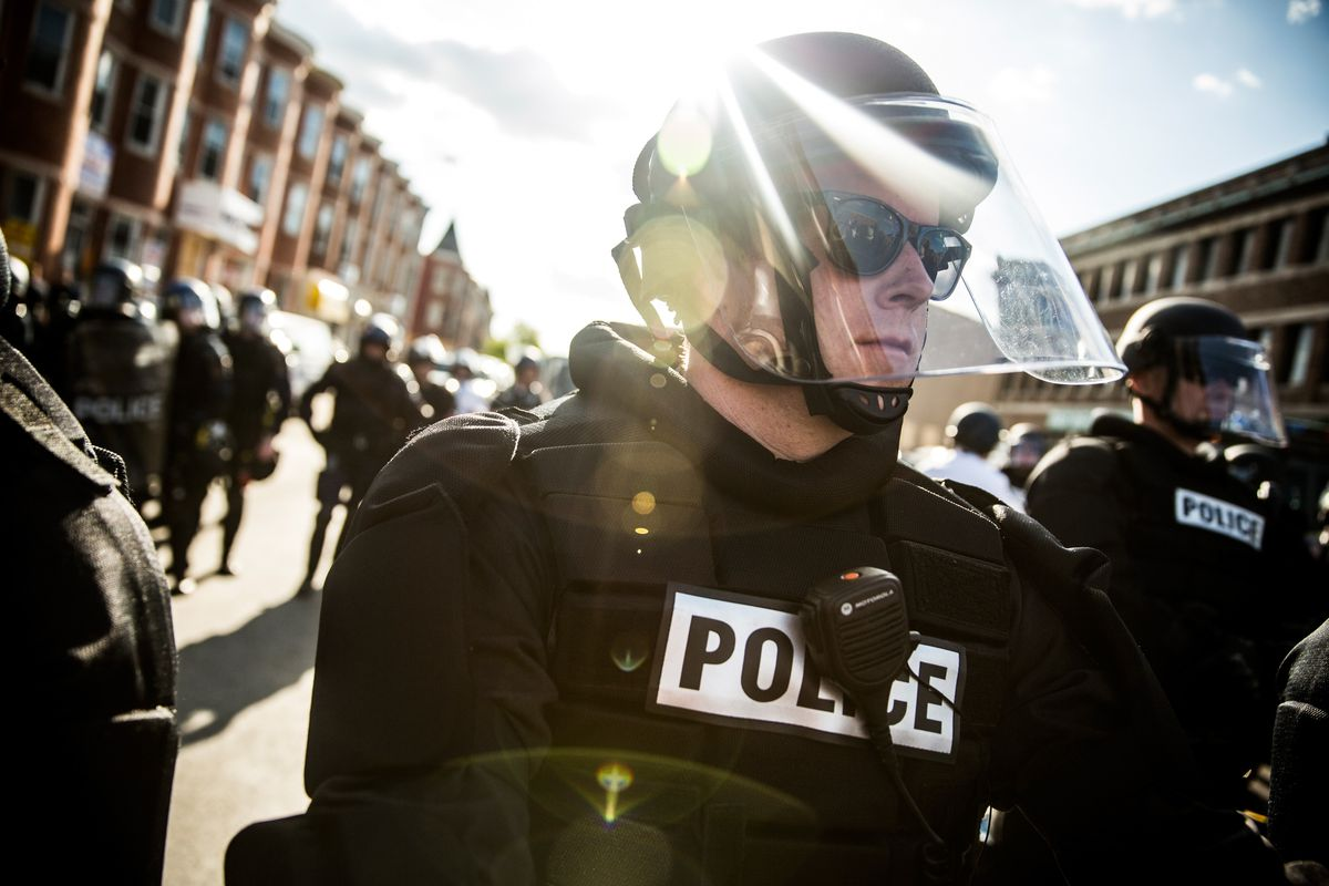Police officers in Baltimore.