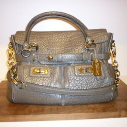 Chelsea Satchel with Harness Detail and Exaggerated Pebble-embossed Leather, $798