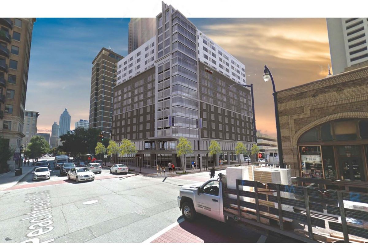 In Context How The Lodge Could Look As Seen From Front Of Georgian Terrace Hotel Lpbc Via Midtown Alliance