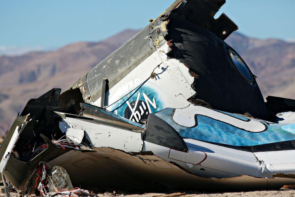 Wreckage from last week's SpaceShipTwo crash.