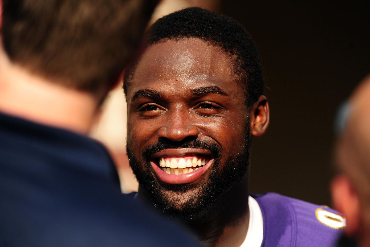 Ravens' WR Torrey Smith talks to the media after training camp.
