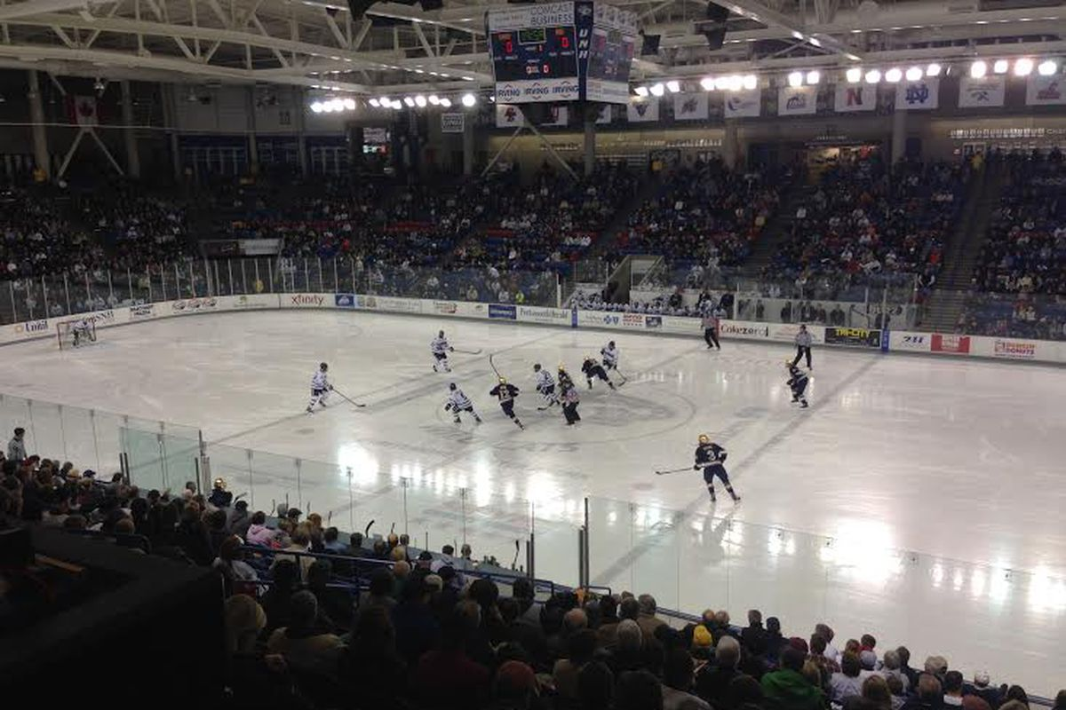 The Whittemore Center at UNH during a game this season against Notre Dame