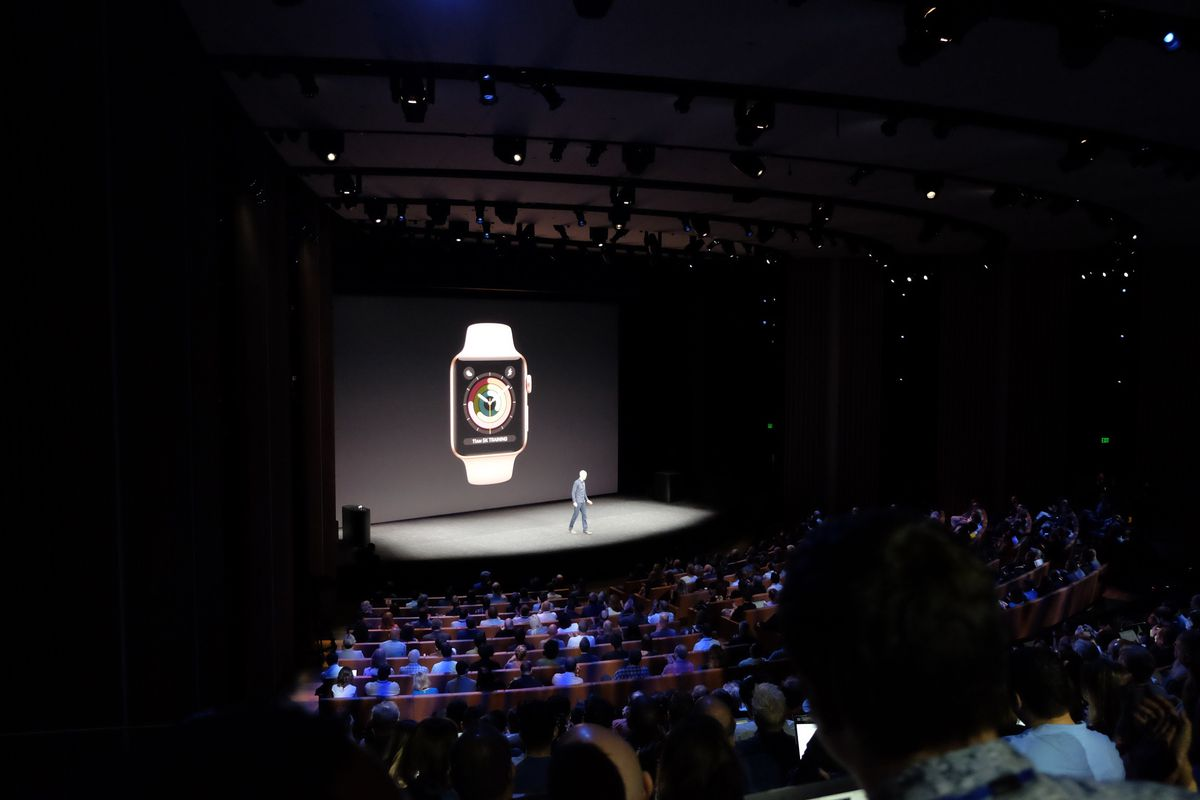 Apple COO Jeff Williams and Apple Watch Series 3, Steve Jobs Theater at Apple Park, iPhone X event, Sept. 12, 2017