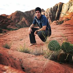 Jason Steed in southern Utah's Snow Canyon.