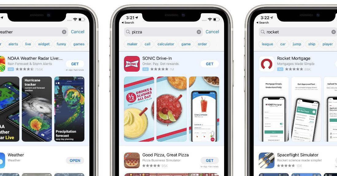 Apple adds a way to speed up searches on the App Store by suggesting words
