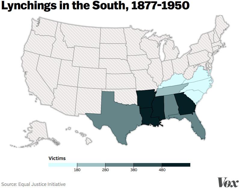 EJI lynchings map