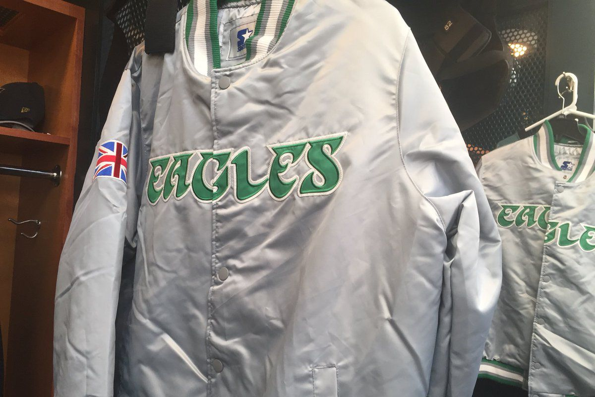 online store 89a4a bee3b Eagles players get limited edition Starter jackets to ...