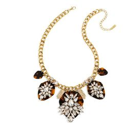 Constellation Crystal Station Bib Necklace, $58