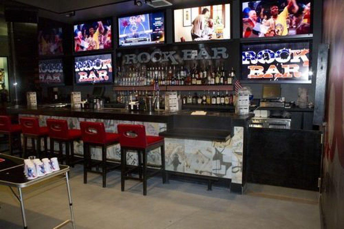 The bar at Rock Bar.