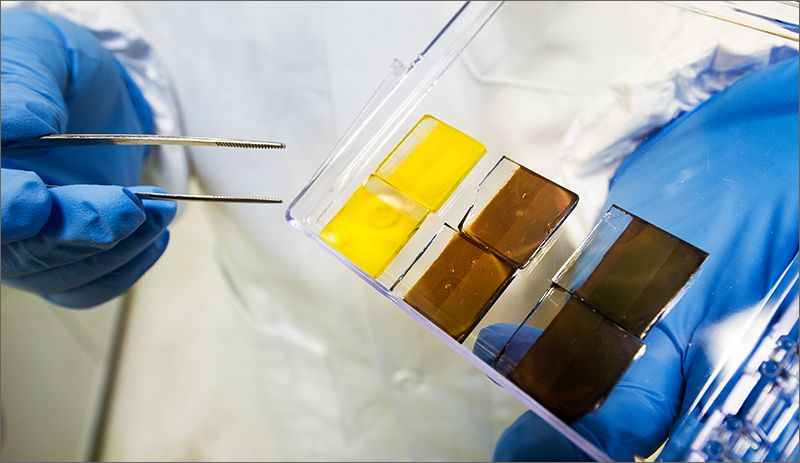 The band gap of perovskites can be adjusted by changing their compositions to access different parts of the sun's spectrum.