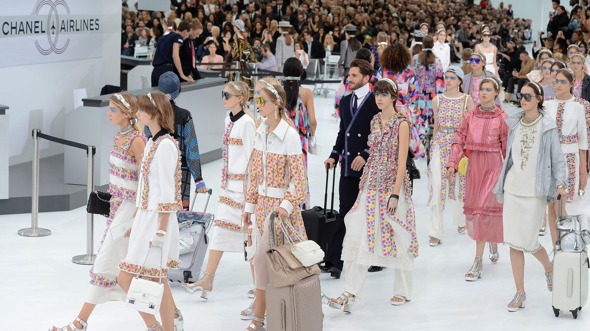 No exploding beauty products here at the Chanel Airport, site of the spring 2016 show. Photo: Dominique Charriau/Getty Images
