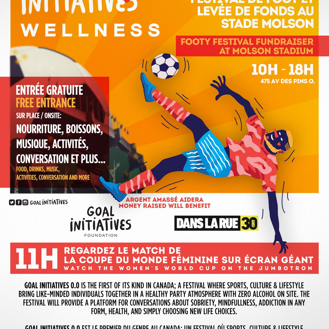 Goal Initiatives Foundation Returns to Montreal July 6 & 7