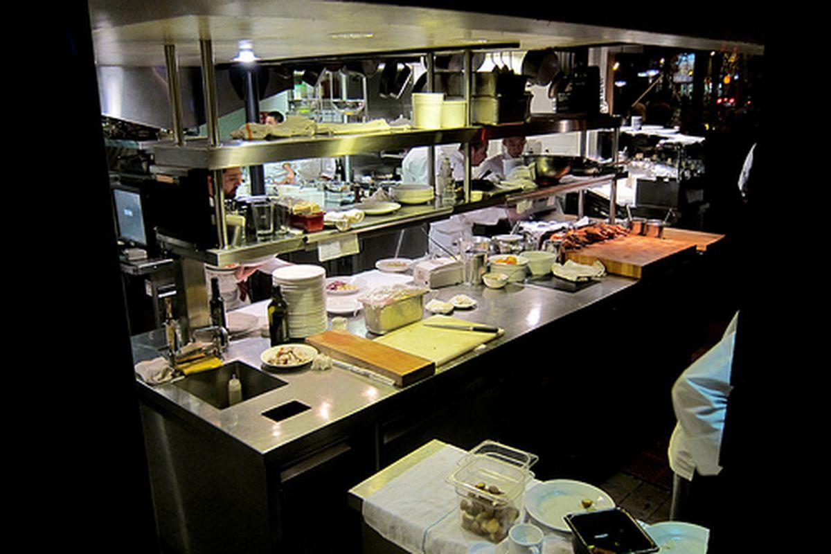 The kitchen at Zuni Cafe.