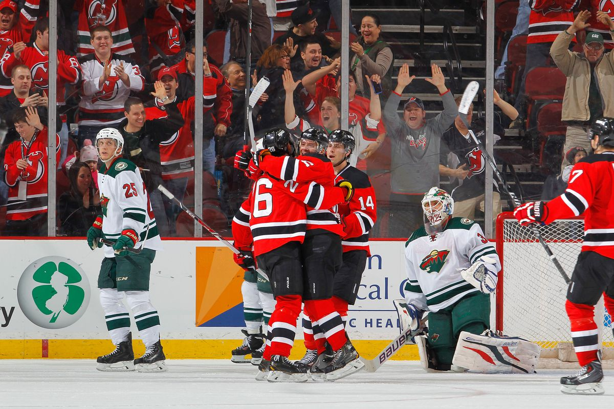 The last Devils-Wild game in Newark ended well.  Let's hope a similar result happens tonight.