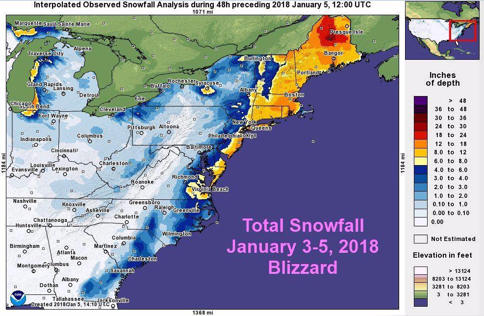 Winter storm 2018: A bomb cyclone has covered almost the entire East ...