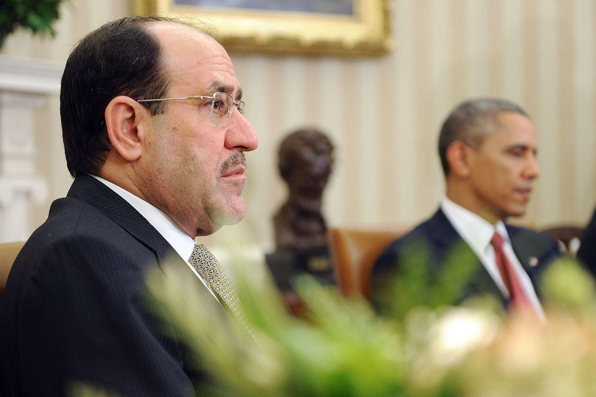 Nuri al-Maliki at the White House.