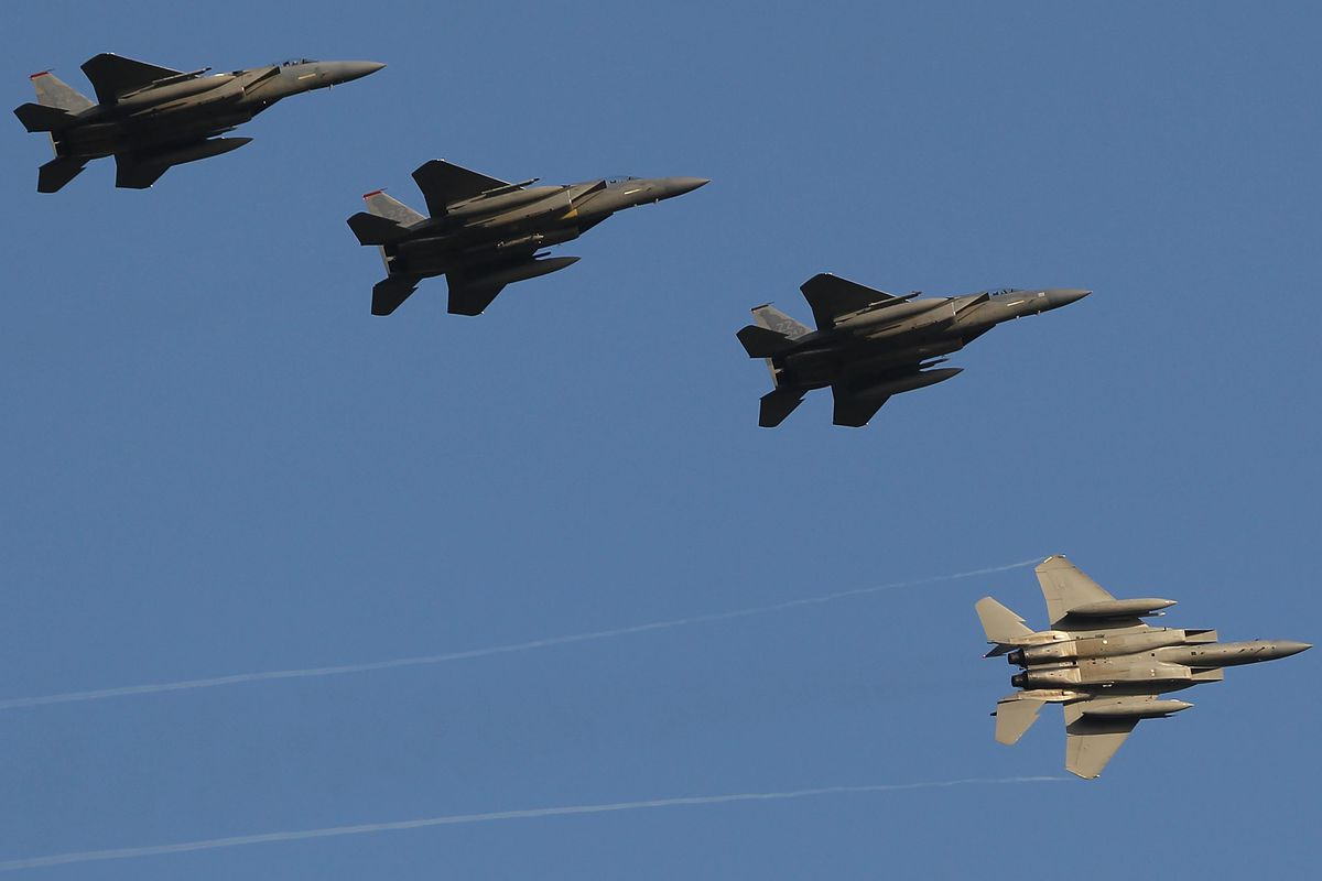 American Air Force F-15 jets