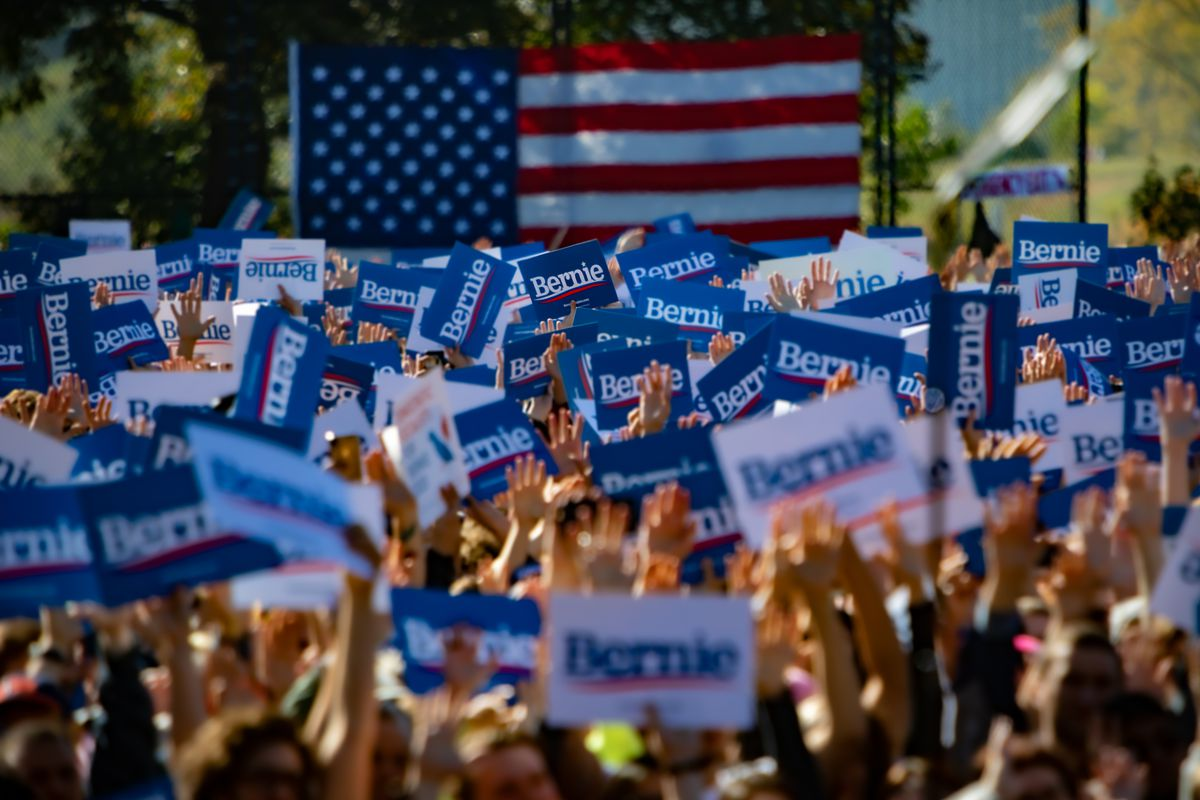 """The event dubbed """"Bernie's Back Rally"""" comes as Sanders..."""