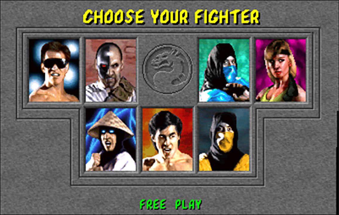 The roster for the original Mortal Kombat.