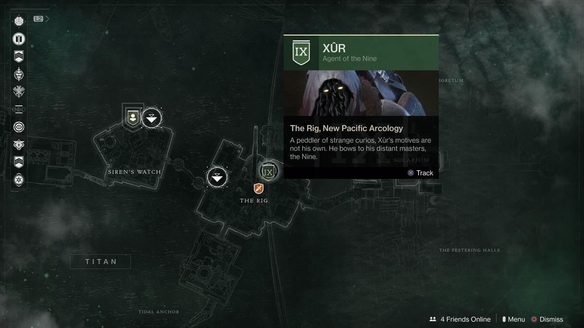 Destiny 2 Xur location July 6-9, 2018
