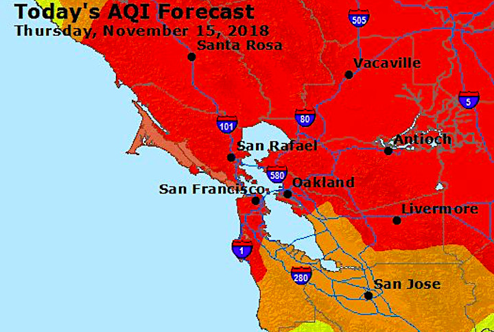 Air Quality United States Map.San Francisco Bay Area Toxic Air Quality Gets Worse Curbed Sf