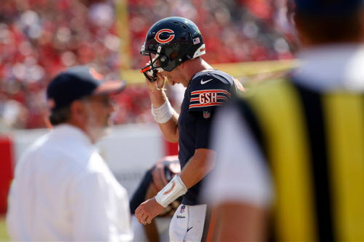 purchase cheap ba7eb 6602d Bears to release QB Mike Glennon, will look for his ...