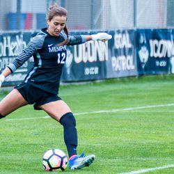 Memphis goalie Maryse Bard-Martel