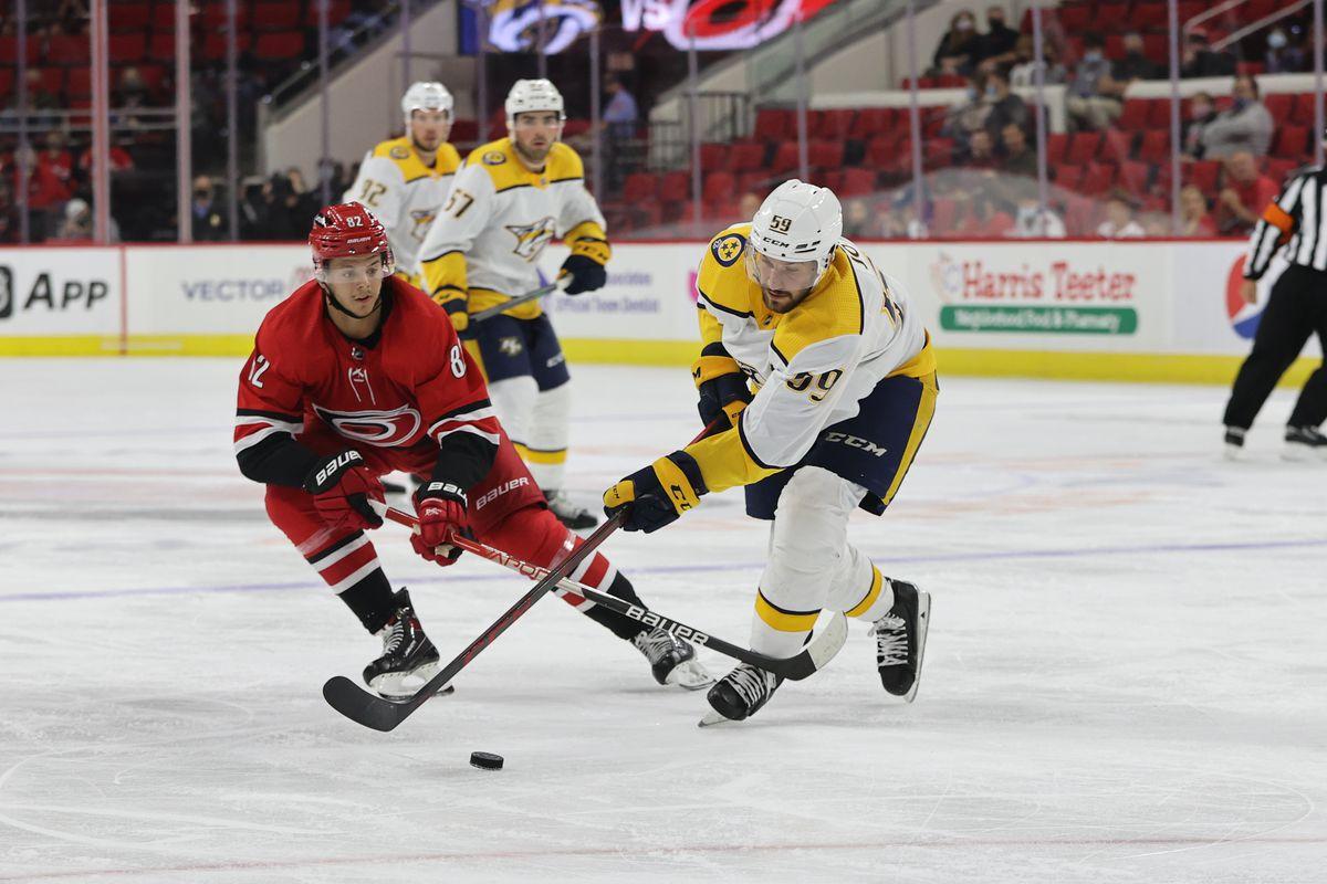 NHL: OCT 05 Preseason - Predators at Hurricanes
