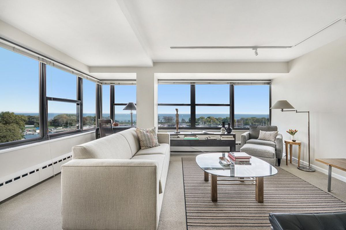 two bedroom condo. 3410 N  Lake Shore Drive 10D Photos by Coldwell Banker Residential Own this bright condo with Michigan views for 279K Curbed