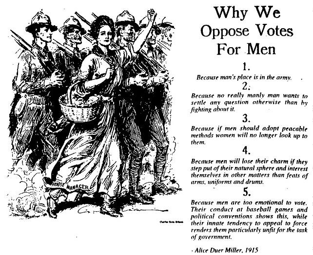 Reasons why men shouldn't vote