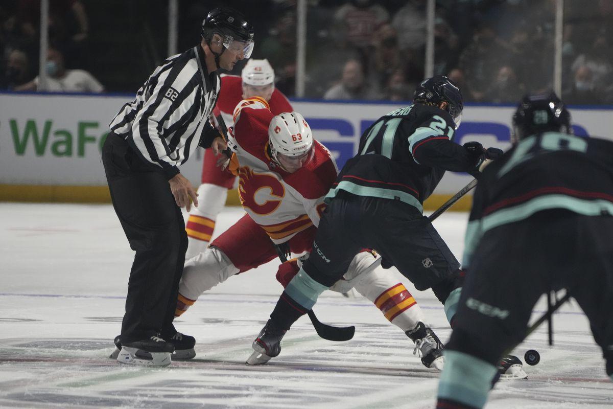 NHL: OCT 02 Preseason - Flames v Kraken