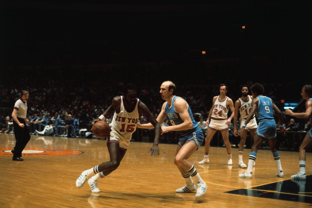 Earl Monroe Dribbling the Ball