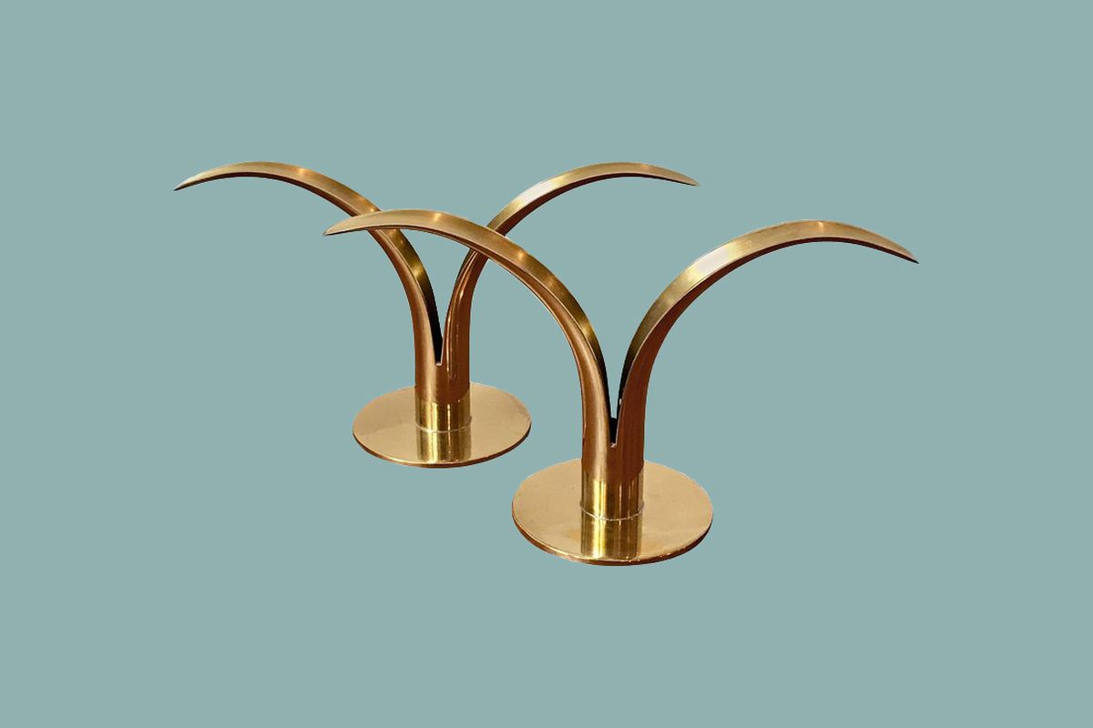 Connu These Art Deco candleholders are like little brass sculptures - Curbed NM12