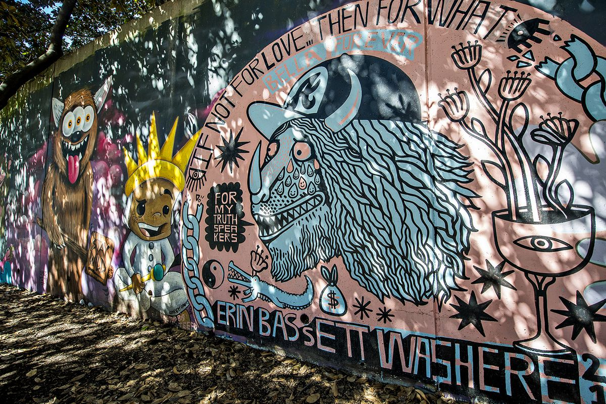 Erin Bassetts Mural Gives Way To Greg Mikes Take On Where The Wild Things Are