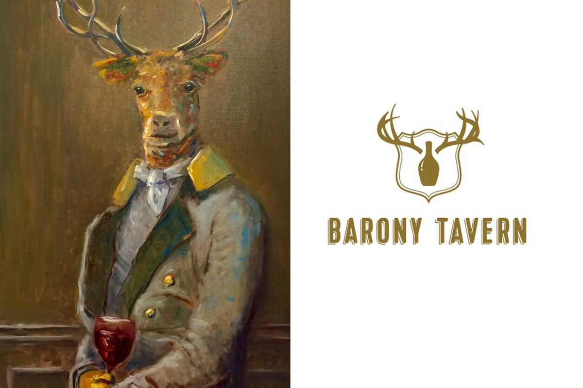 Signature painting and logo from Barony Tavern.